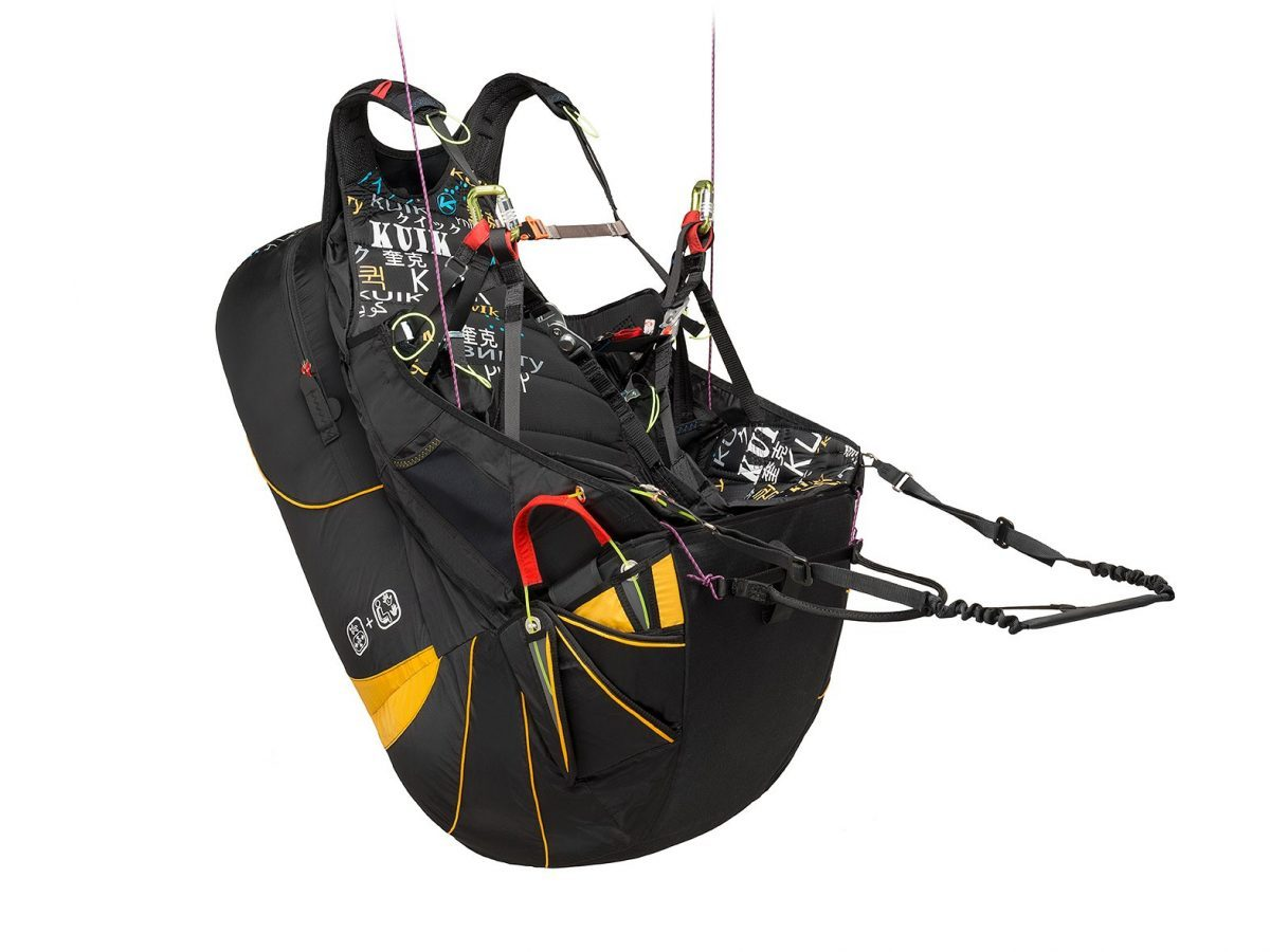 Kortel Kuik II paraglding harness with krashbox module in South Afrika by XC Paragliding
