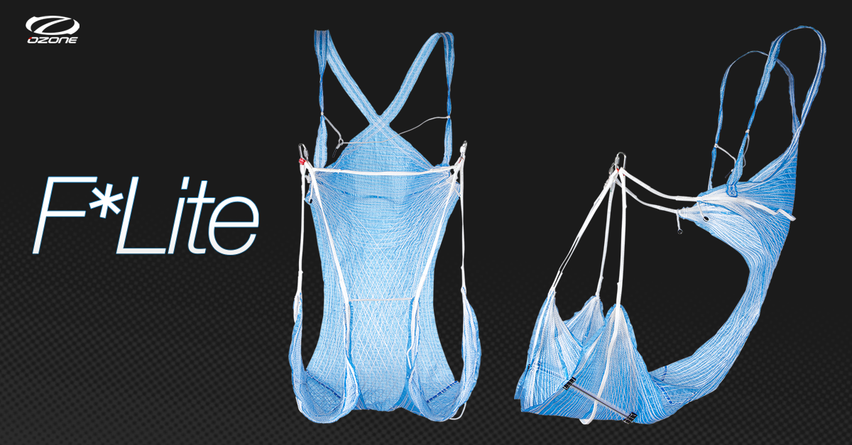 Ozone F-lite paragliding harness by XC Paragliding in South Africa