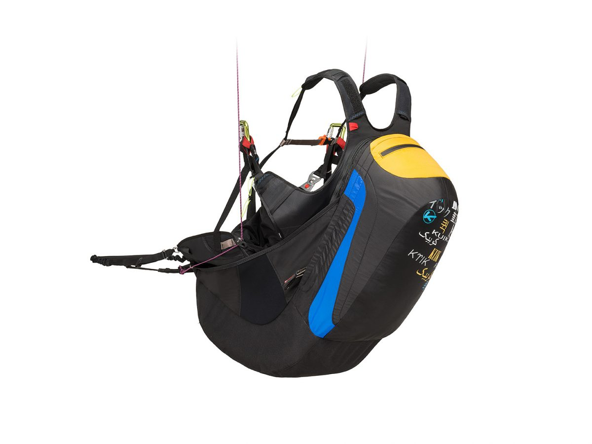 Kortel Kuik II paraglding harness with mousse bag module in South Afrika by XC Paragliding